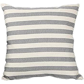 Simple Striped Home Body Pillowcases,Highpot Simpel Style Design A Variety of Striped Square Plush Cover Cushion (2B)