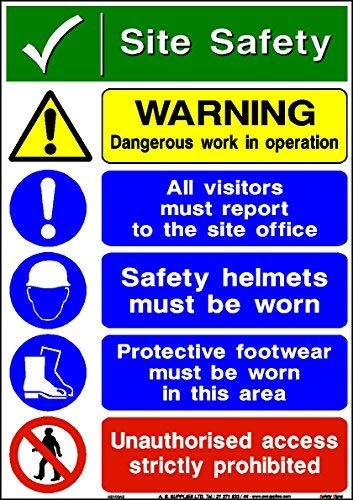 hiusan Site Safety Occupational Health & Safety Signs (Site Safety) from hiusan