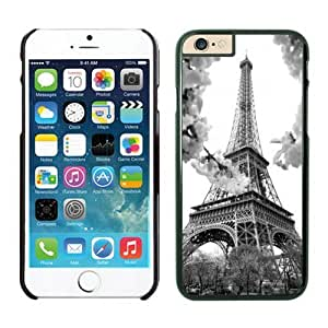 Iphone 6 Plus Case 5.5 Inches, Eiffel Tower Desiger Black Cute Phone Protective Cover Case for Apple Iphone 6 Plus