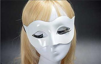 Mascara Facial Careta Protector de Cara dominó Frente Falso Hombres máscara Halloween Traje Danza máscara Dama