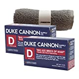 Duke Cannon Mens Bar Soap Multi-pack and Freedom Washcloth – 2 Big American Bricks Of Smells Like Supremacy Soap By Duke Cannon For Sale