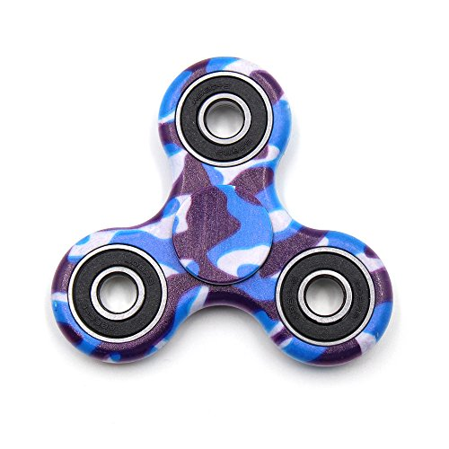 Yeahbeer Hand Fidget Spinner Toy Stress Reducer and Perfect For ADD, ADHD ,Finger Toy fidget work Ultra Fast Bearings (Camouflage blue)