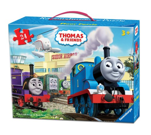 Ravensburger Thomas & Friends at The Airport Floor Puzzle in a Suitcase Box, 24-Piece Jigsaw Puzzle for Kids – Every Piece is Unique, Pieces Fit Together (Thomas The Tank Floor Puzzle)