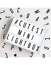 My Cinema Lightbox - The Mini Cinema Lightbox, LED Changeable Quote Sign To Create Personalized Messages, with 100 Letters