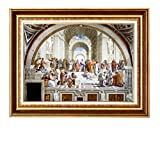 Eliteart-The School of Athens by Raphael Oil Painting Reproduction Giclee Wall Art Canvas Prints Framed Size: 28' x 35'