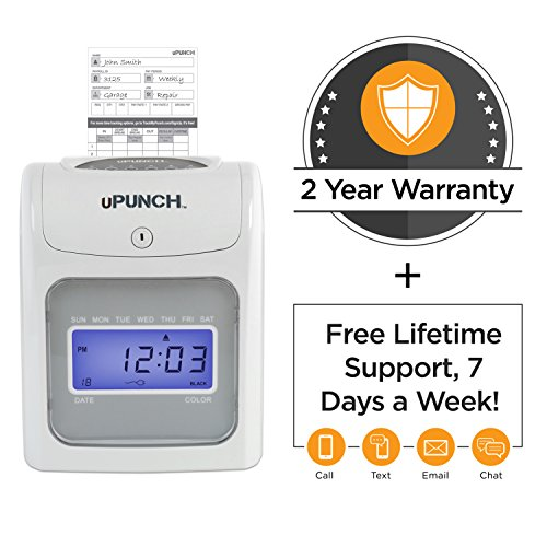 CALCULATING uPunch Time Clock Bundle with 200 Cards, 3 Ribbons, 2