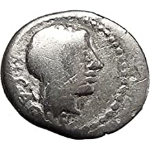 1000 IT Roman Republic 89BC M. Cato Young Man Victory Qui coin Good