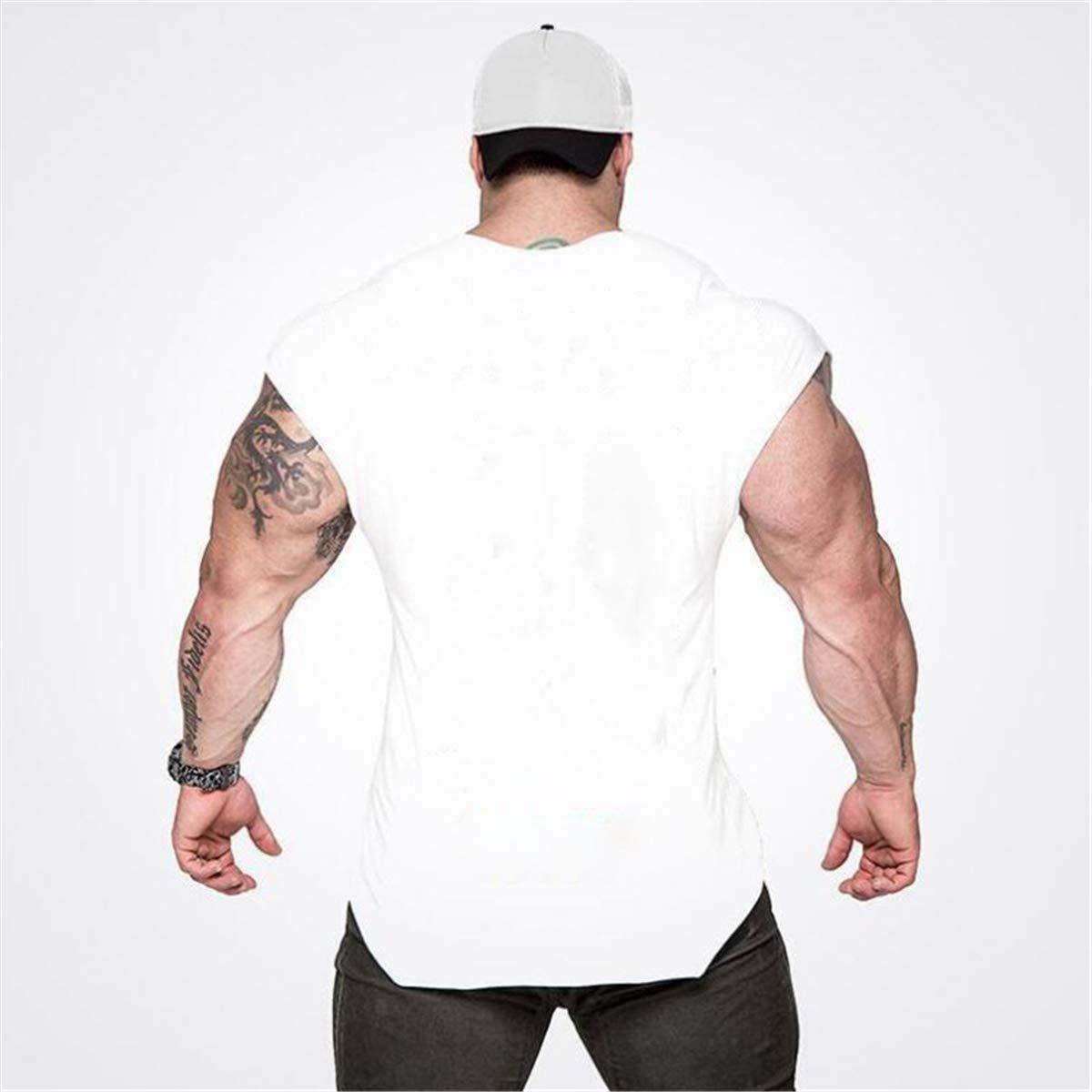 Cabeen Uomo Maglietta Palestra Sport Body Building Allenamento T-Shirt Tank Top Cotone