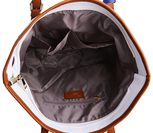 Whobabe borse da donna in pelle PU borsa a tracolla shopping bag, borsa shopper