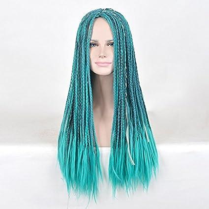 Largo Medio parte sintético trenzado descendientes 2 Uma Cosplay peluca