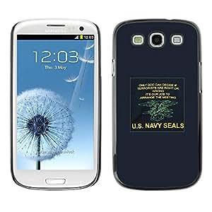 TopCaseStore / la caja del caucho duro de la cubierta de protección de la piel - Army War Poster U'S Blue - Samsung Galaxy S3 I9300