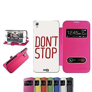 caselabdesigns Flip Carcasa Para Sony Xperia Z3funda dontstop D6683Fucsia–Funda protectora plegable de rosa