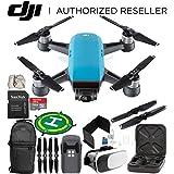 DJI Spark Portable Mini Drone Quadcopter (Sky Blue) EVERYTHING YOU NEED Starter Bundle