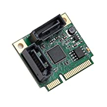 IO Crest Mini PCIe 2 Port SATA III RAID Controller Components Other (SI-MPE40095)