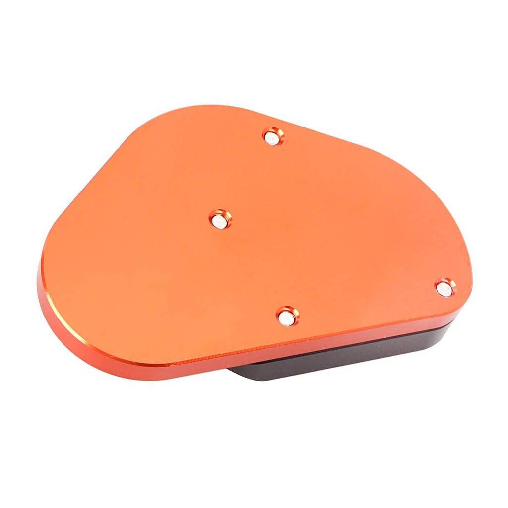 Motorcycle Kickstand Side Pad For KTM 125//200//390Duke RC125//390//690//950//990//1290 Black+Orange