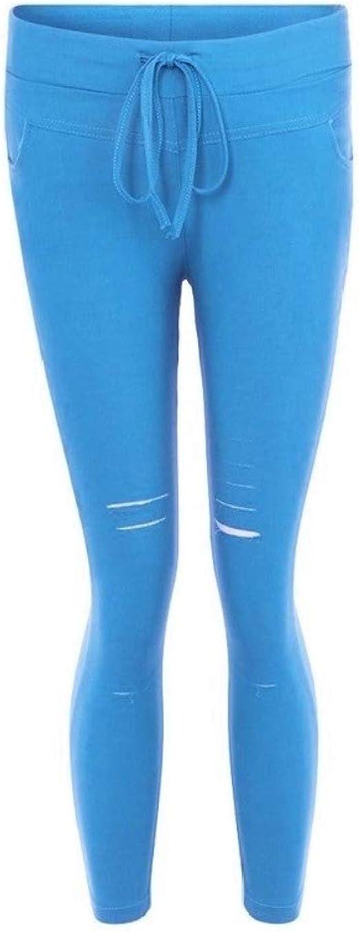 Tootess 女性のファッションソリッドカラーセクシースリムフィットホール鉛筆ズボン