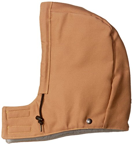 Bulwark Flame Resistant 11 oz Cotton/Nylon Excel FR ComforTouch Regular Universal Fit Snap-On Hood, Brown Duck, ()
