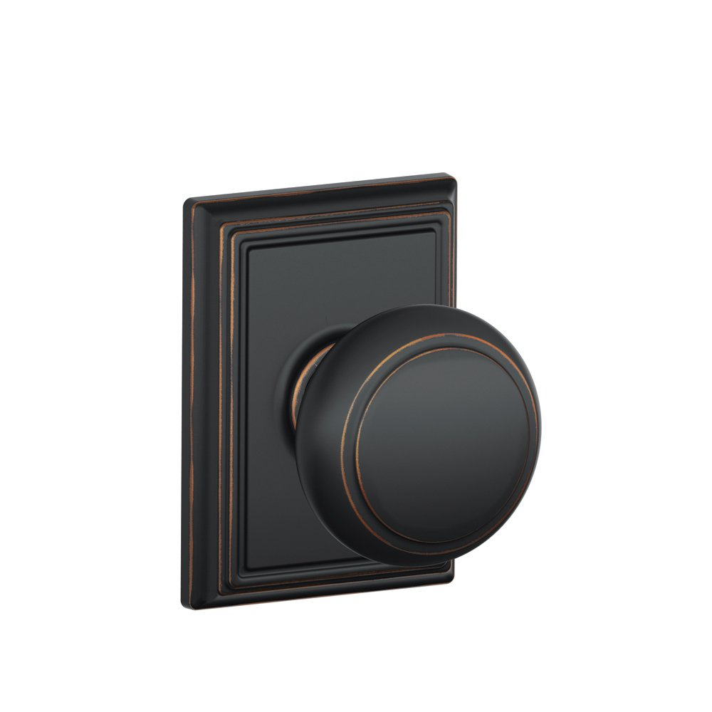 Schlage F10AND716ADD Addison Collection Andover Passage Knob, Aged Bronze    Passage Doorknobs   Amazon.com