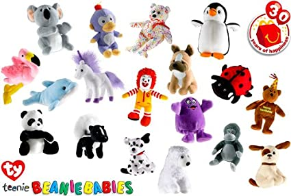 photograph about Beanie Baby Checklist Printable named Ty Beanie Boy or girl Special 2009 McDonalds 30th Anniversary Delighted Supper Preset of 30