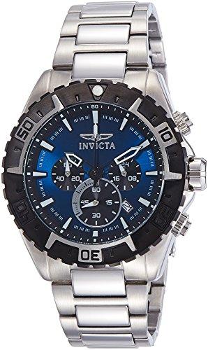 Invicta Men's 22526 Aviator Analog Display Swiss Quartz Silver Watch ()