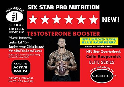 Muscletech Six Star Elite Series Testosterone Booster Blue Raspberry 240g ()