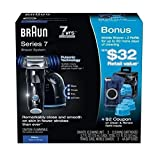 Braun Series 7-760cc Clean & Renew Shaver System, Plus Bonus - 1 Travel Shaver, 2 Cleaning Cartridges. Limited Edition