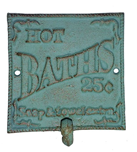 Shabby Chic French Country Bathroom Towel Hook Jade