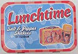 Applause Ceramic Salt And Pepper Shakers 'Brady Bunch Lunchtime' In Tin Box #69530