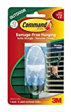 Command Outdoor Large Window Hook, Clear, 6-Pack