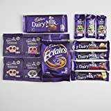 Cadbury Diary milk Bars Collection in a Basically British Burlap Sack from Britain- Cadbury Dairy Milk Bars, Freddo, Buttons, Eclairs