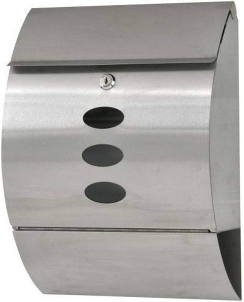 1024 Byte Shop Durable Stainless Steel Mailbox Silver