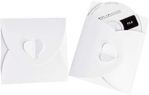 JZK 50 x Papel Cubiertas sobre Blanco para CD DVD Fotos ...