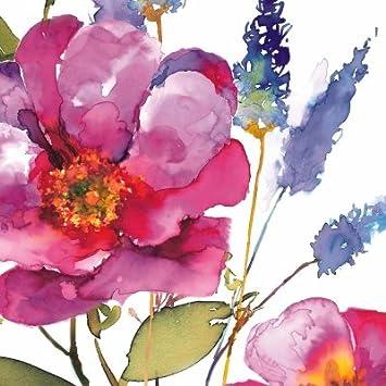 Decoupage Decopatch Papier Bogen strahlende Blumen als Motiv 48x68