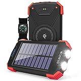 Solar Power Bank, Qi Portable Charger 10,000mAh
