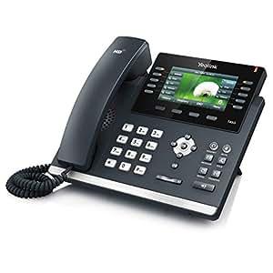 Yealink T46G - Teléfono VOIP con pantalla, color negro y plata