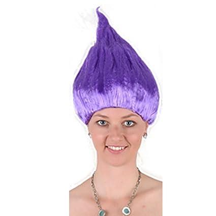 Elegante peluca de Halloween, diseño de dibujos animados de personalidad, ideal para fiestas de