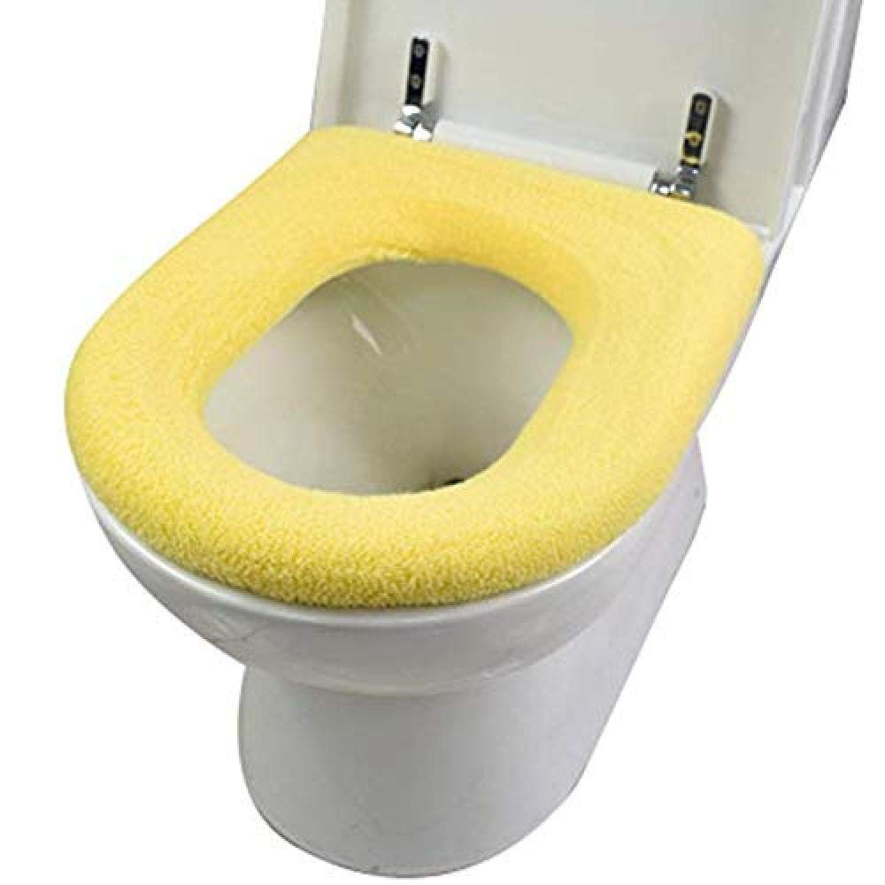 YouNB Toilet Seat Cushion for Seniors Square Non-Slip Seat Cover Thicken Soft Warmer Comfy Can Be Washed Mat for Bathroom-F 1-1 by YouNB