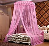 LUSTAR® Court Style Mosquito Net Bed Canopy For Children Fly Insect Protection Indoor Decorative Height 275cm Top Diameter 105cm
