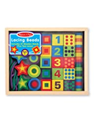 Melissa & Doug Deluxe Wooden Lacing Beads - Educational Activ...