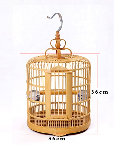 manual Vintage Wood Bamboo Pagoda Style Bird CAGE Matchstick
