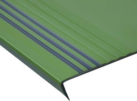 Perfil de transición Barra antideslizante de escalera de PVC, Peldaño antideslizante Peldaño Paso integral Almohadilla de escalón de plástico for escaleras Pegamento de piso, Espesor: 3.6MM: Amazon.es: Bricolaje y herramientas