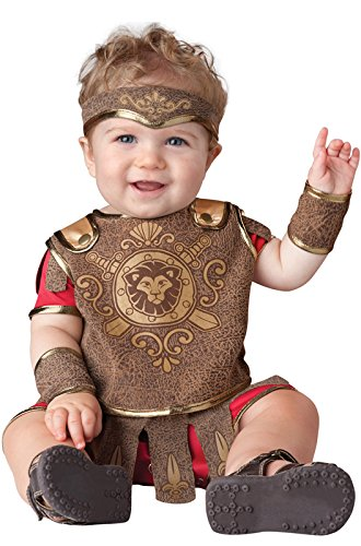 InCharacter Baby Boy's Gladiator Costume, Red/Tan, Small