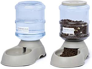 Nourse Chowsing Pet Feeder and Water Food Dispenser Automatic for Dogs Cats 100% BPA-Free Gravity Refill Easily Clean Self Feeding for Small Large Pets Puppy Kitten Rabbit Bunny 1 Gal