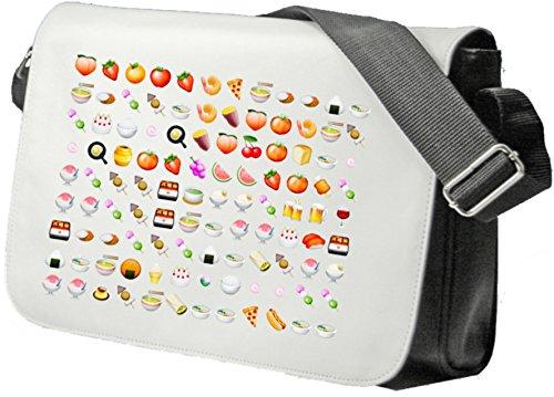 """Schultertasche """"Obst Gemüse Vegan Vegetarische Smileys"""" Schultasche, Sidebag, Handtasche, Sporttasche, Fitness, Rucksack, Emoji, Smiley"""