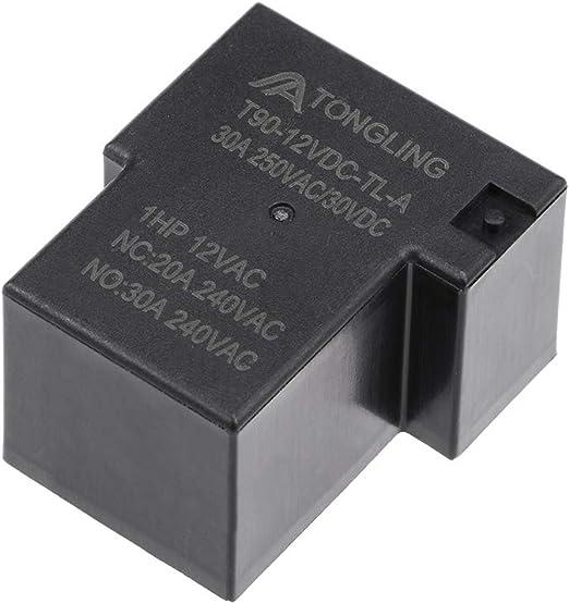 uxcell TR93F-12VDC-SC-C DC 12V Coil 5 Pins Car Auto Power Relay Black