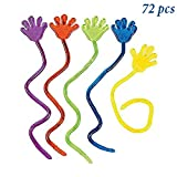 """Toys : Adorox 72 Pieces Vinyl Glitter Sticky Hands Party Favor Birthday Gifts Toys Goodies (1 1/4"""" Long )"""
