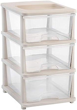 Liergou-Home La gaveta de Almacenamiento Gabinete Transparente Caja de plástico Caja de Almacenamiento Ropa Acabado Cuadro Armario (Color : Blanco, tamaño : 33x57x44cm): Amazon.es: Hogar