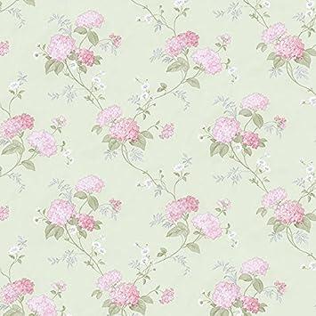 Essener Floral Prints Vinyltapete Pr33860 Grun Rosa Grau Weiss Blumen