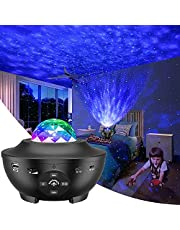 Galaxy Projector, Star Projector 3 in 1 Night Light Projector w/LED Cloud with Bluetooth Music Speaker for 1-16 Years Baby Kids Bedroom/Game Rooms/Home Theatre/Night Light Ambiance…