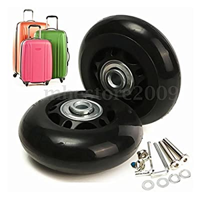 Abbott OD. 74 mm Wide 24 mm Axle 40 mm Luggage Suitcase/Inline Outdoor Skate Replacement Wheels with ABEC 608zz Bearings : Sports & Outdoors